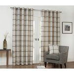 Julian Charles Kendal Lined Curtains - 112x228cm - Charcoal