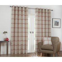 Julian Charles Kendal Lined Curtains - 112x182cm - Spice