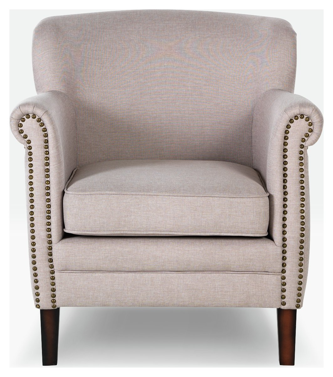 HOME Bella Fabric Chair   Natural