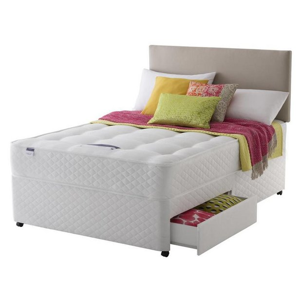 Buy silentnight mckenna ortho kingsize divan bed 2 drawers at your online shop Argos single divan beds