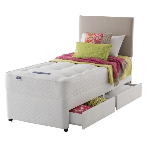 Buy silentnight mckenna ortho single divan bed 2 drw takeback at your online Argos single divan beds