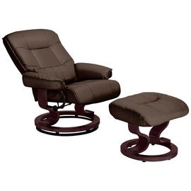 Argos Home Santos Recliner Chair and Footstool - Dark Brown