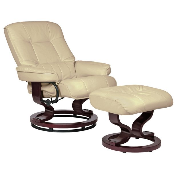 Super Buy Argos Home Santos Recliner Chair And Footstool Ivory Armchairs And Chairs Argos Creativecarmelina Interior Chair Design Creativecarmelinacom