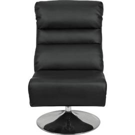 Argos Home Costa Swivel Chair and Footstool - Black