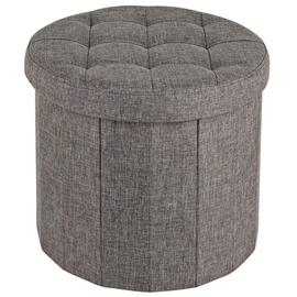 Argos Home Circular Ottoman Shoe Storage - Grey