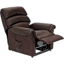 HOME Warwick Leather Powerlift Recliner Chair - Dark Brown