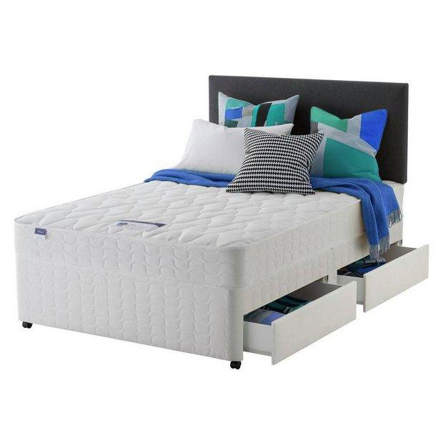 Buy silentnight travis miracoil superking divan bed 4 for Superking divan and mattress