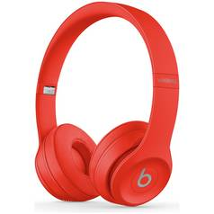 Beats by Dre Solo 3 On - Ear Wireless Headphones - Red