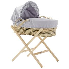 Cuggl Waffle Moses Basket with Stand - Grey