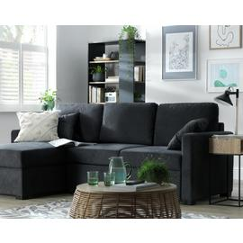 Argos Home Reagan Left Corner Fabric Sofa Bed - Charcoal
