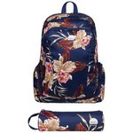 more details on Roxy Blue Floral Backpack with Matching Pencil Case.