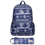 more details on Roxy Blue Tribal Backpack with Matching Pencil Case.