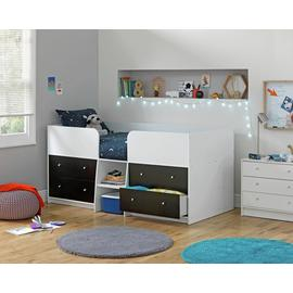 Argos Home Malibu Black & White Mid Sleeper Bed Frame