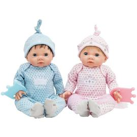Chad Valley Tiny Treasures Twin Babies Bumper Set