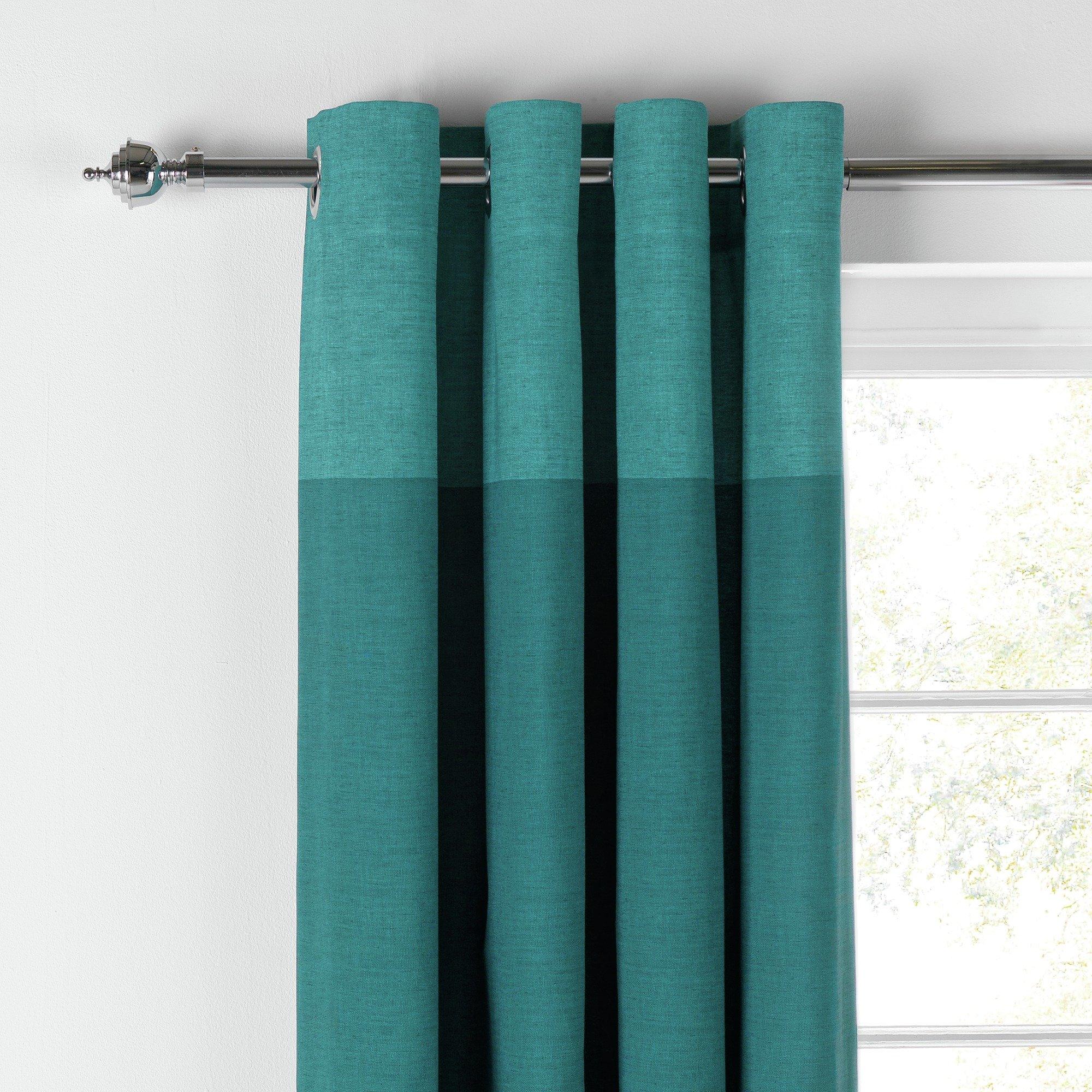HOME Dublin Unlined Eyelet Curtains   117x183cm   Teal