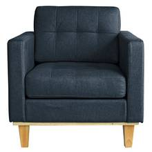 Hygena Aliso Fabric Chair - Denim Blue