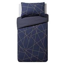 Collection Luxe Fineline Geometric Bedding Set - Single