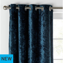 Collection Cara Velvet Lined Curtains - 168x229 - Dark Teal