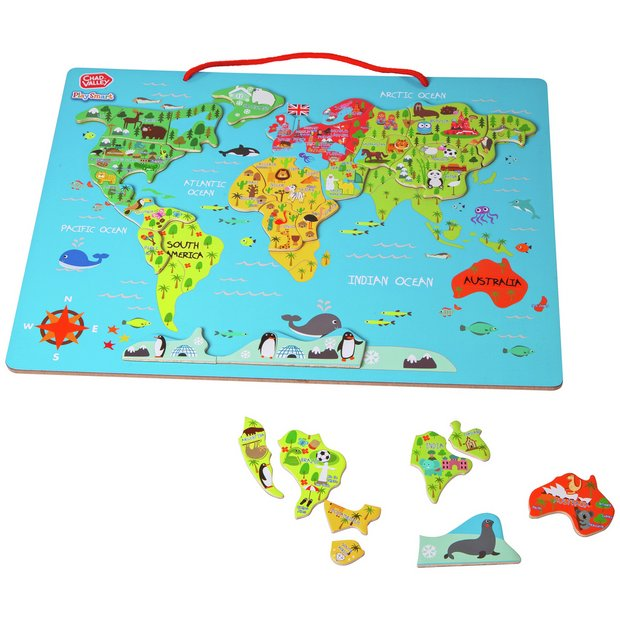 Buy Chad Valley PlaySmart Magnetic World Map | 2 for 15 pounds on Toys |  Argos