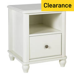 Argos Home Ashbourne 1 Drawer Bedside Chest - Ivory