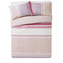 HOME Ditsy Red Patchwork Bedding Set - Double