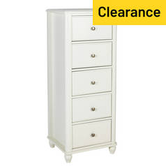 Argos Home Ashbourne 5 Drawer Narrow Chest - Ivory