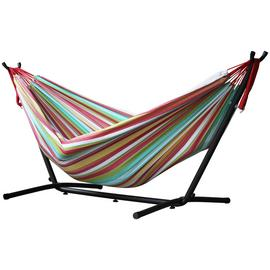 Vivere Double Cotton Hammock with Stand - Salsa