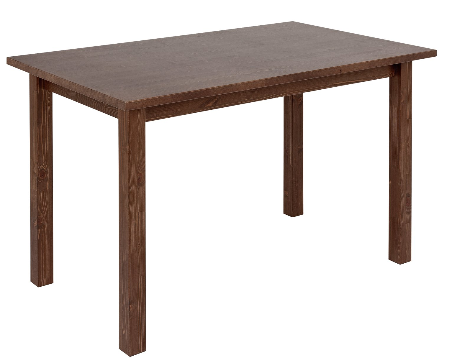 Argos Home Ashdon Solid Pine 4 Seater Dining Table   Walnut