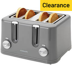 Cookworks 4 Slice Toaster - Grey