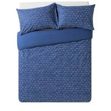 HOME Navy Geometric Bedding Set - Double