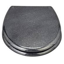 coloured soft close toilet seat. HOME Black Glitter Slow Close Toilet Seat seats  Argos
