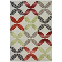 Monte Geometric Rug - 120x170cm - Red