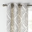 more details on Collection Diamond Distressed Lined Curtains -117x137- Grey.