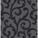 more details on Arthouse Glitterati Scroll Wallpaper - Black.
