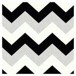 more details on Arthouse Glitterati Chevron Wallpaper - Black & Platinum.