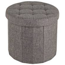 HOME Circular Ottoman Shoe Storage - Grey