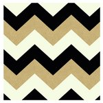 more details on Arthouse Glitterati Chevron Wallpaper - Black & Gold.