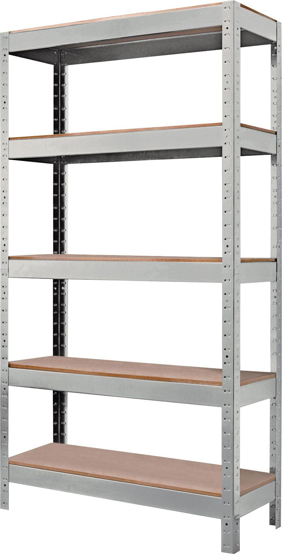 quick assembly 5 tier steel garage shelving storage unit