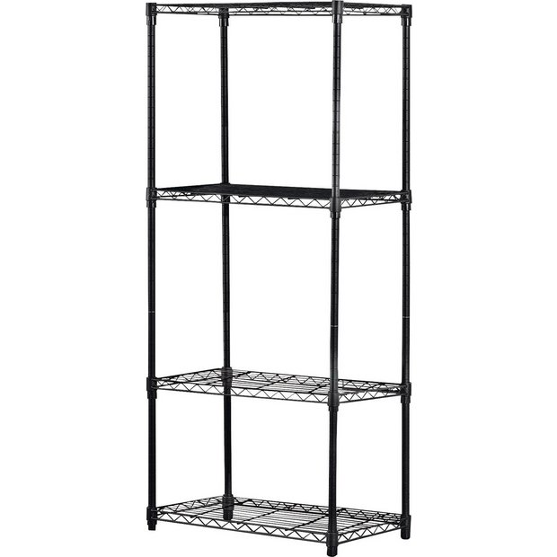 Buy 4 Tier Heavy Duty Steel Garage Shelving Storage Unit ...