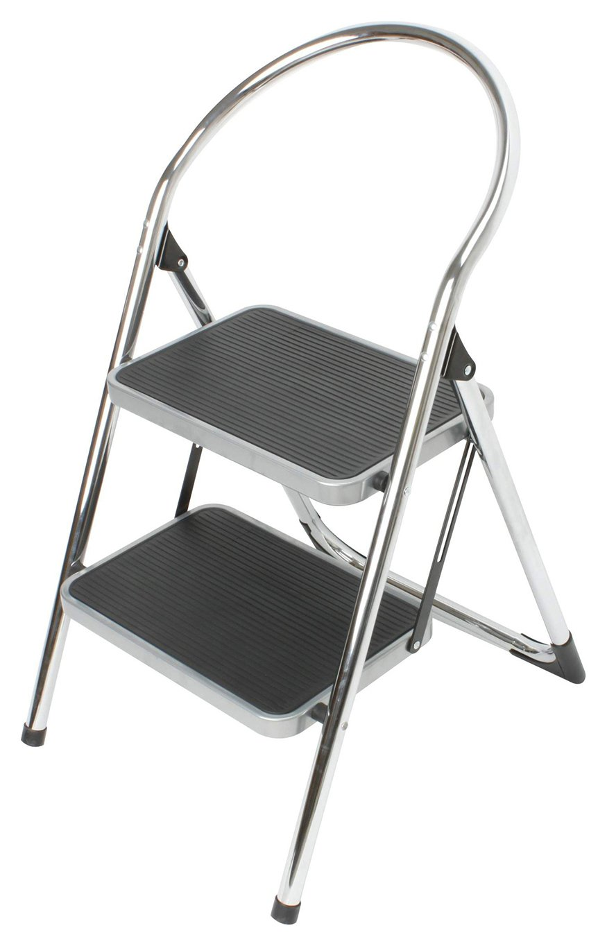 2 step chrome stepstool - Step Stool With Handle