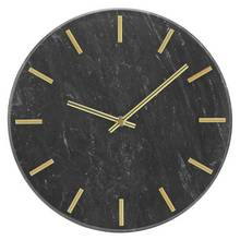 Heart of House Montgomery Marble Wall Clock - Black & Gold