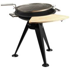Firefriend Charcoal BBQ Wooden Side Table & Hooks