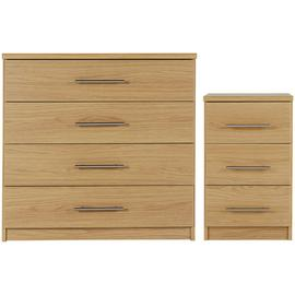Argos Home Normandy Bedside Table & 4 Drawer Chest Set
