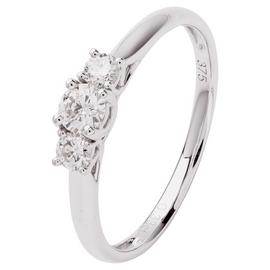 Revere 9ct White Gold 0.33ct tw Diamond Trilogy Ring