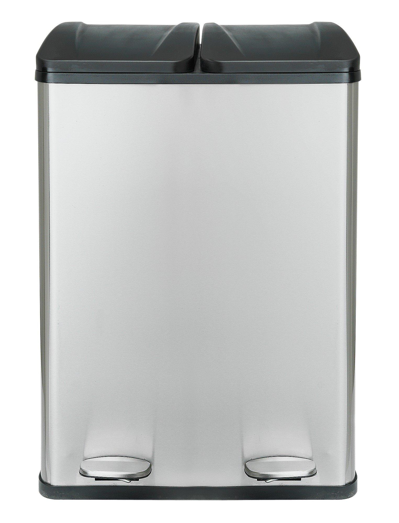 Buy Argos Home 60 Litre 2 Compartment Recycling Bin | Kitchen Bins | Argos