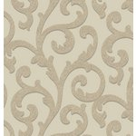 more details on Arthouse Glitterati Scroll Wallpaper - Mink.