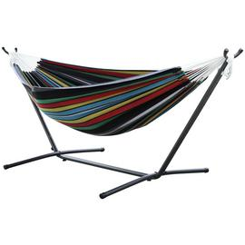 Vivere Double Cotton Hammock with Stand - Rio Night