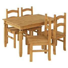 Argos Home San Diego Solid Wood Dining Table & 4 Chairs