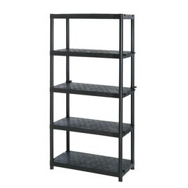 Extra Heavy Duty 5 Tier Plastic Garage Shelving Storage Unit