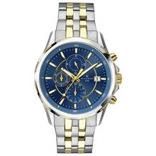 Accurist Men's Blue Dial Two Tone Chronograph Watch